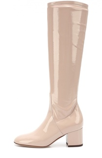 Лаковые сапоги Stretch на устойчивом каблуке Valentino