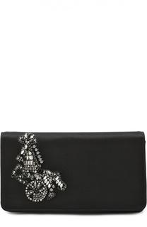 Клатч с вышивкой кристаллами Roberto Cavalli