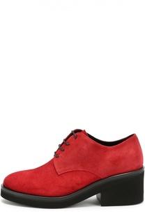 Замшевые ботинки на массивном каблуке Vic