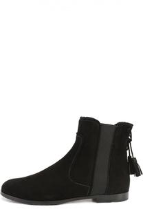 Замшевые ботинки с кисточками Aquazzura