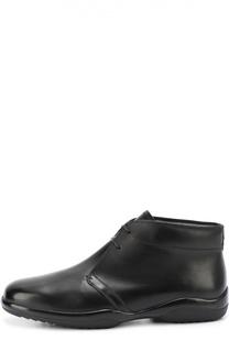 Кожаные ботинки с внутренней отделкой из овчины Bally