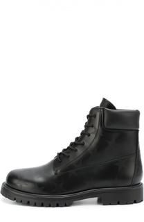 Высокие кожаные ботинки с принтом Valentino