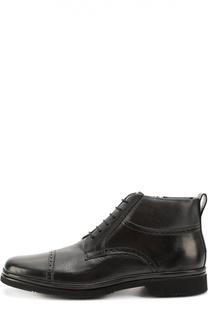 Высокие кожаные ботинки с брогированием Aldo Brue