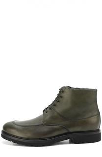 Кожаные ботинки с внутренней отделкой из овчины A. Testoni