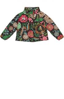 Стеганая куртка с ярким принтом Burberry
