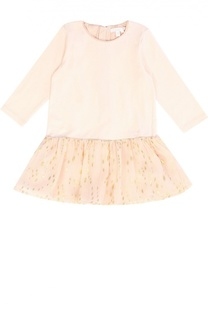 Платье прямого кроя с оборкой Chloé
