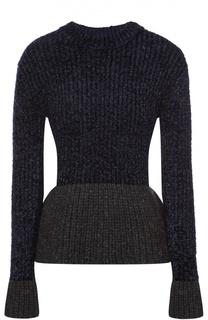 Пуловер с баской и металлизированной отделкой 3.1 Phillip Lim