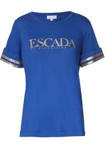 Топ прямого кроя с контрастной отделкой Escada Sport