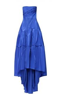 Шелковое платье-бюстье c подолом Oscar de la Renta