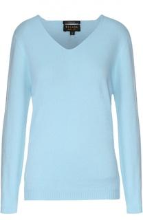 Кашемировый пуловер прямого кроя с V-образным вырезом Escada