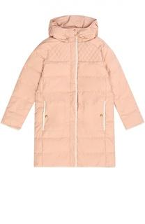 Стеганое пальто с капюшоном Chloé
