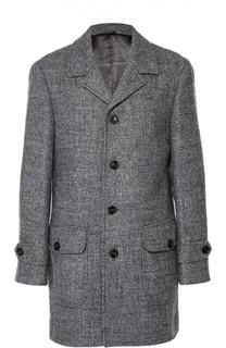 Шерстяное однобортное пальто Baldessarini