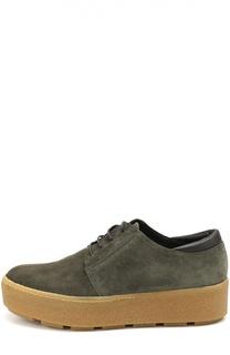 Замшевые ботинки на контрастной платформе Vic