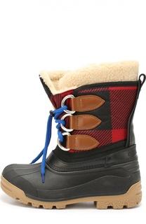 Текстильные сапоги на шнуровке Dsquared2