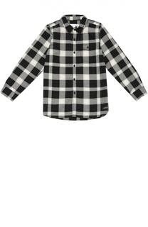 Хлопковая рубашка в клетку Burberry