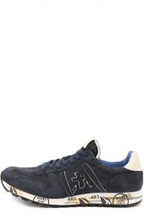 Замшевые кроссовки на подошве с принтом Premiata