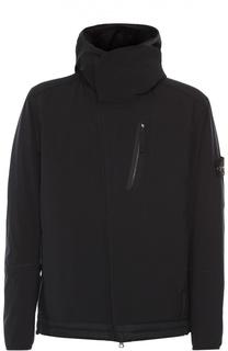 Утепленная куртка на молнии с капюшоном Stone Island