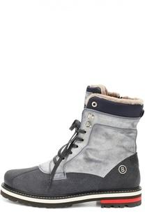 Высокие кожаные ботинки с внутренней меховой отделкой Bogner