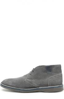 Утепленные кожаные ботинки на шнуровке Dirk Bikkembergs
