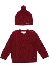 Вязаный пуловер с шапкой из кашемира Burberry