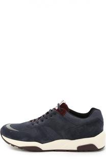 Комбинированные кроссовки на толстой подошве Z Zegna