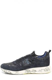 Комбинированные кроссовки на подошве с принтом Premiata