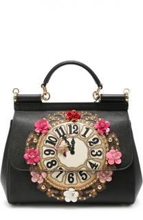 Сумка Sicily medium с аппликацией Dolce & Gabbana
