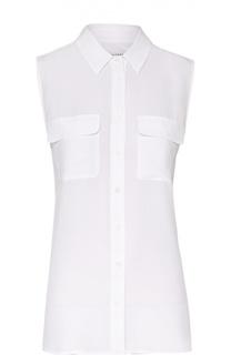 Шелковая блуза без рукавов с накладными карманами Equipment