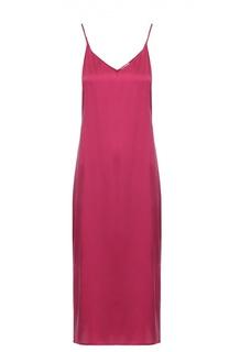 Шелковое платье-комбинация с разрезами Equipment