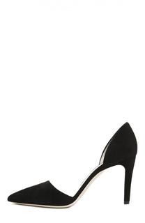 Замшевые туфли с зауженным мысом Giorgio Armani