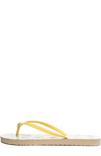 Шлепанцы с цветочным принтом Tory Burch