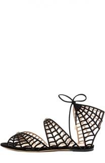 Замшевые сандалии Miss Muffet Charlotte Olympia