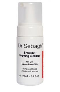 Очищающая пенка для жирной кожи и кожи с акне Breakout Foaming Cleanser. For Oily & Acne Prone Skin Dr.Sebagh
