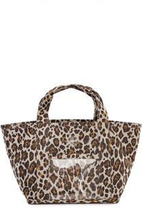 Текстильная сумка Ami с леопардовым принтом Charlotte Olympia