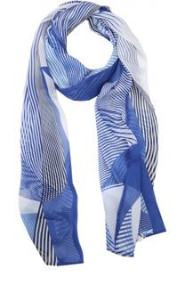 Шелковый шарф с принтом Stizzoli