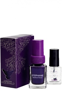 Лак для ногтей Stephany / Полночная синева + Bond-подготовка Christina Fitzgerald