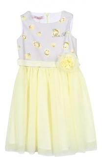 Платье с поясом Blumarine