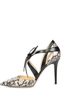 Кожаные туфли Lapris на шпильке Jimmy Choo
