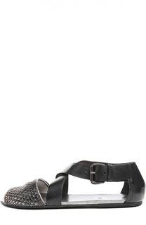 Кожаные сандалии с плетением Marsell