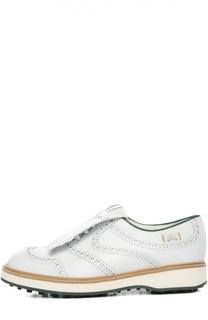Кожаные ботинки Grand Slam с перфорацией Gucci