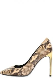 Туфли Paris из кожи питона на шпильке Saint Laurent