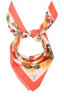 Шелковый платок с принтом Mantero