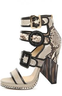 Босоножки Kaya на фигурном каблуке Jimmy Choo