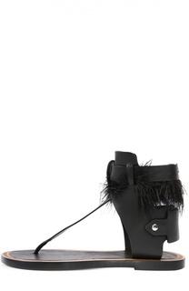 Кожаные сандалии с декором Isabel Marant