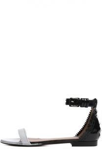 Кожаные сандалии с ремешком на щиколотке Givenchy