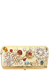 Клатч на цепочке с отделкой кристаллами Swarovski Dolce & Gabbana