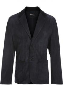 Кожаный пиджак Kiton