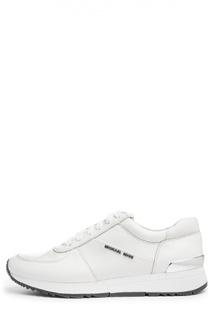 Кожаные кроссовки Alison с декором Michael Michael Kors