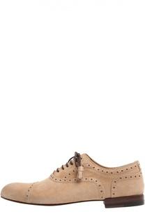 Замшевые ботинки Barry с перфорацией Gucci