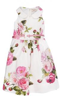 Платье с ремнем Monnalisa
